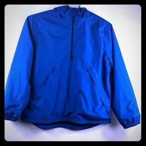 Timberland Men's Blue waterproof half zip hoodie